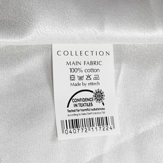 Printed Fabric and Care Labels
